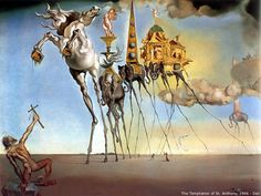 Salvador Dali, The temptation of St. Anthony New York One of my favorite pieces by Dali. Salvador Dali Oeuvre, Salvador Dali Kunst, Salvador Dali Quotes, Salvador Dali Paintings, Temptation Of St Anthony, Blog Art, Star Wars Painting, Art Antique, Star Wars Wallpaper