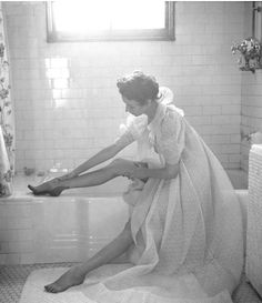 By Lillian Bassman, c 1950,  Untitled, Dorian Leigh.