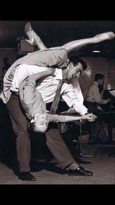 Acrobatic Swing dancing.  ❤❤❤
