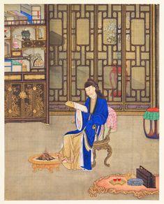 清 無款 胤禛行楽図・囲炉観書 北京故宮博物院所蔵