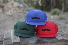 Infant mustache trucker hats www.morethanahat.com  More Than A Hat