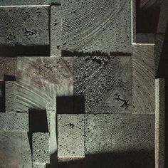 end grain timber textured concrete