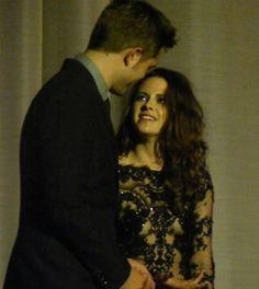 Kristen Stewart and Robert Pattinson inside at the Breaking Dawn 2 premiere in London - November 2012