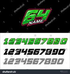Find Green Force Number Start Racing Number stock images in HD and millions of other royalty-free stock photos, illustrations and vectors in the Shutterstock collection. Lettering Design, Hand Lettering, Logo Design, Sticker Shop, Sticker Design, Green Force, Pretty Art, Logos, Numbers