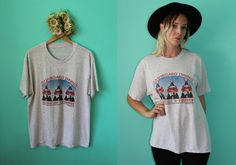 Vintage VTG VG 1990's Dashboard Dining 7 Eleven Trucker T- Shirt Distressed in Grey Fastfood Sheer Cotton Hit the Road Highway Semi Unisex by foxandfawns on Etsy