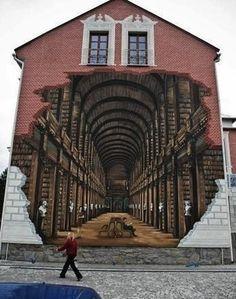 Banksy: The World's Most Famous Graffiti Artist ROA street art. 3d Street Art, Street Art Utopia, Amazing Street Art, Street Art Graffiti, Urban Graffiti, Street Mural, Urbane Kunst, 3d Chalk Art, Chalk Artist