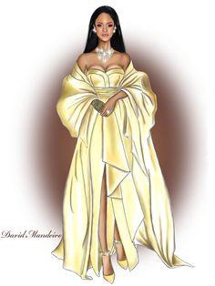 Rihanna Stuns In Dior At Her Second Annual Diamond Ball by David Mandeiro.