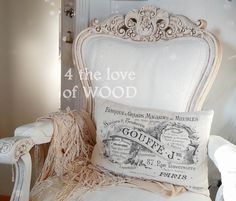 PAINTING AN UPHOLSTERED CHAIR FROM TOP TO BOTTOM - our bedroom chair Upholstered Furniture, Shabby Chic Furniture, French Country Chairs, Wedding Furniture, Annie Sloan Paints, Modern Victorian, Bedroom Chair, Chalk Paint Furniture, Woodworking Jigs