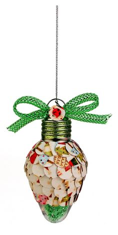 Nicole™ Crafts Paper Circle Bulb Ornament #ornaments #craft #christmas