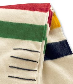 Hudson Bay Point Blanket - add the little black stripes in to the blanket Beaver Pelt, Hudson Bay Blanket, Bay Point, Camping Blanket, Textiles, Vintage Wool, Wool Blanket, At Least, Quilts