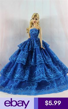 Fashion Princess Party Dress//Evening Clothes//Gown For 11.5in.Doll S344