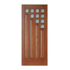 Puerta exterior con 10 vidrios de 6 mm de grueso. Satinados sin templar. Chapa de 4 mm de grueso en largueros y traveseros. Interior alistonado de pino. Molduras resaltadas de madera sólida. 4 tableros de MDF enchapados con relieve. Medidas: Largo: 203 cm. Ancho: 91 cm. Espesor: 4 cm. Material: madera y fibras de madera. Color natural. Peso: 35.5 kg. Garantía 1 año.
