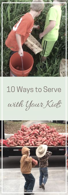 Are you a mama with a heart for ministry? Do you have a hard time finding opportunities to serve with your children? Check out these neat service ideas!