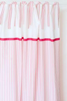 Fresh Gardinen u Vorh nge Vorh nge breite Streifen rosa x cm ein