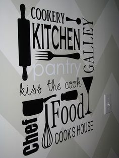 Awesome for a kitchen...cut with a Cricut