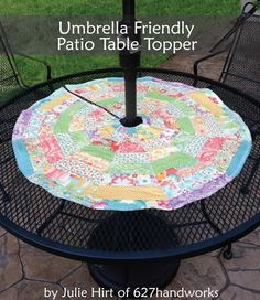 Umbrella-friendly Patio Topper