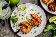 Margarita Grilled Shrimp Skewers are loaded with flavor & charred to perfection. An easy grilled shrimp recipe that'll be the star of your summer grilling! Easy Grilled Shrimp Recipes, Grilled Shrimp Skewers, Pork Rib Recipes, Kebab Recipes, Easy Salad Recipes, Entree Recipes, Seafood Recipes, Healthy Recipes, Dinner Recipes