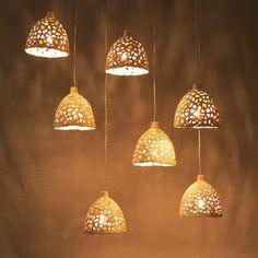 15% off - Ceramic hanging lights. Kitchen lighting. Hanging light pendants. Dining room light. Made to order