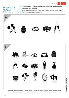 Les capacités de perception visuelle pour les enfants dyslexiques Memory Games, Education, Stage, Crafts, Ideas, Activities, Game, Complex Plane, Visual Perceptual Activities
