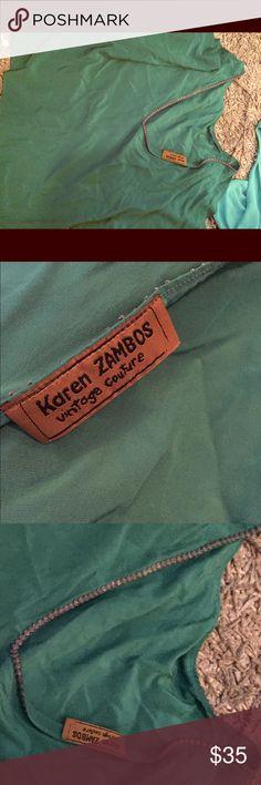 Karen Zambo trim detail top This has a drape back and a lace trim detail. Very cute ! Karen Zambos Tops Blouses