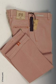 PT01 PANTALONI TORINO Salmon Denim Slim Fit Jeans Pants EU 56 NEW US 40