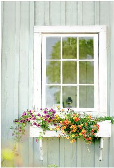 flowers overflowing from the window boxes:)