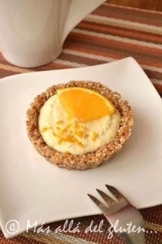 Más allá del gluten...: Mini-Tortas de Queso con Naranja Crudiveganas (Rec...