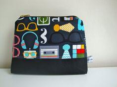 Mens Cotton wash bag handmade toiletry storage bag by GerdaBags cee778966