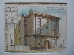 Flat Building on Schiller St. , Chicago, IL, 1886, John Addison