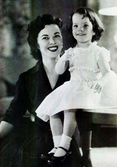 Shirley Temple and Daughter, Lori Black, 1950s......Uploaded By www.1stand2ndtimearound.etsy.com
