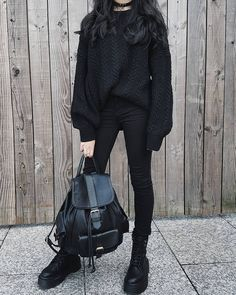 115 ways to look stylish wearing grunge outfits page 25 Edgy Outfits, Korean Outfits, Cute Casual Outfits, Girl Outfits, Fashion Outfits, Edgy School Outfits, Cute Grunge Outfits, Office Outfits, Fashion Tips