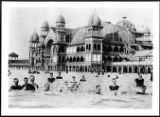 Swimmers in the Great Salt Lake in front of the Saltair Pavilion, Utah, [s.d.] :: California Historical Society Collection, 1860-1960