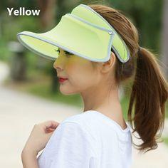 Women visor hat for summer wear protection sun hats fe03d6c4eea