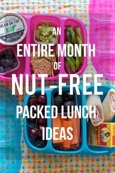 An Entire Month of School Lunch Ideas