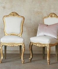 Vintage Shabby Chic Romantic Gilt Side Chairs-french, gold, elegant, furniture, desk, vanity,dining,table, dining room,    French Garden House   8941 Atlanta Ave. #284   Huntington Beach, CA 92646   • (714)454-3231 •   All Rights Reserved © 2011 French Garden House