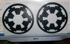 2  STAR WARS IMPERIAL INSIGNIA VINYL DECAL STICKER IN  3 SIZES