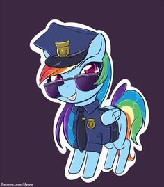 Rainbow Cop by Alasou on DeviantArt Mlp, Fluttershy, My Little Pony Cartoon, Rainbow Dash, Disney Characters, Fictional Characters, Deviantart, Comics, Artist