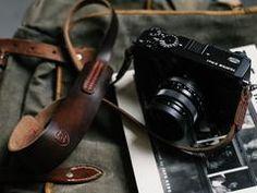 L E G A C Y classic wide camera strap - Nero Brown Horween CXL
