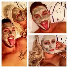 Towie cast enjoying a marine mud mask!!!  A simple and natural way to softer, smoother toned skin. Revitalising clay mask with sea botanicals draws out dirt and impurities from the skin. Contains extremely fine mud particles and leaves the skin feeling grab, renewed and healthy-looking. Suitable for all skin types   https://www.facebook.com/Beauty-and-the-scientist-1002517473099674/