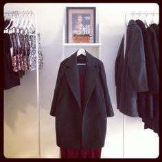 Monochromstore |  oversized double-breasted wool coat