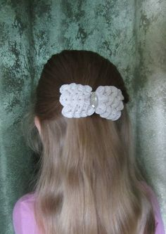 crochet hairpin barette clip hair accessories by KudeSiyaCrochet