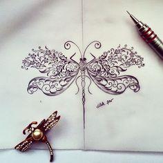 Uç uçabildigin kadar⛅ #tezhip #yusufçuk #mywork #artwork #tasarım #design #workinprogress #dilekşar