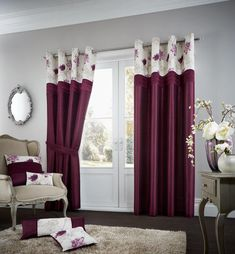 Koh Aubergine Lined Eyelet Curtains – Linen and Bedding Red Bedding, Duvet Bedding, White Bedding, Luxury Bedding, Linen Bedding, Bedding Sets, Bed Linens, Turquoise Bedding, Luxury Linens