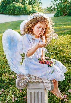 Angel Whispers, Sandra Kuck (1000 parça) | Castorland puzzle