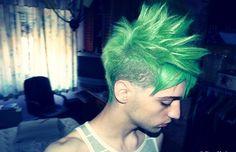 Green Undershave mohawk hair