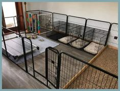 16 New Ideas For Diy Dog Run Fence Play Areas - Dog kennel indoor Whelping Puppies, Puppy Kennel, Dog Kennel Cover, Whelping Box, Puppy Playpen, Kennel Training A Puppy, Dog Kennel Inside, Diy Dog Kennel, Animal Room