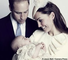 Duke & Duchess of Cambridge with Prince George | christening portrait