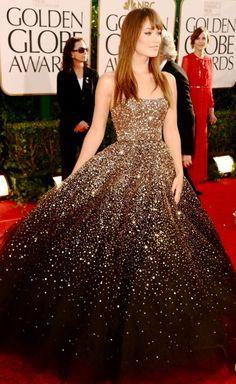 Marchesa dress wearing an Olivia Wilde.