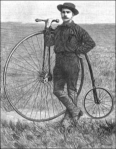 On August 4, 1884 Thomas Stevens became the first person to bicycle across the United States. He later bicycled around the world.