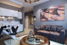 Интерьер этой квартиры выполнен в современном стиле. Проектируемая площадь составила 49 квадратных метров. Автор проекта студия дизайна Победа-дизайна